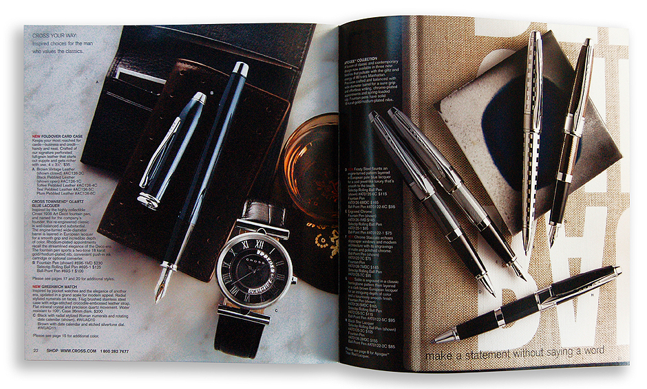 A.T. Cross Catalog Spread