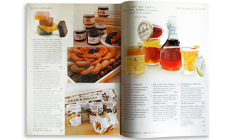 Dean&Deluca Catalog Spread
