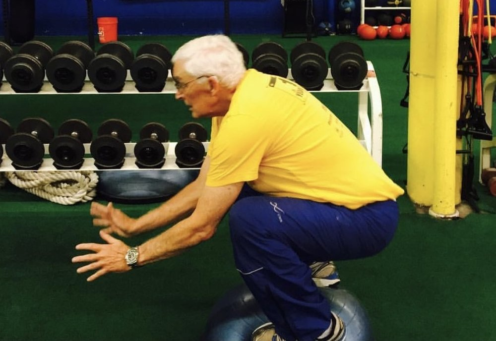 Body Weight ball Squats AT 73 YEARS OLD!