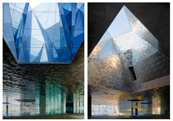 Forum Barcelona - Arkitekter s Jacques Herzog & Pierre de Meuron .