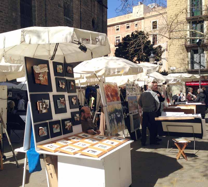 Feria de los pintores -Basílica de Santa Maria del Pi