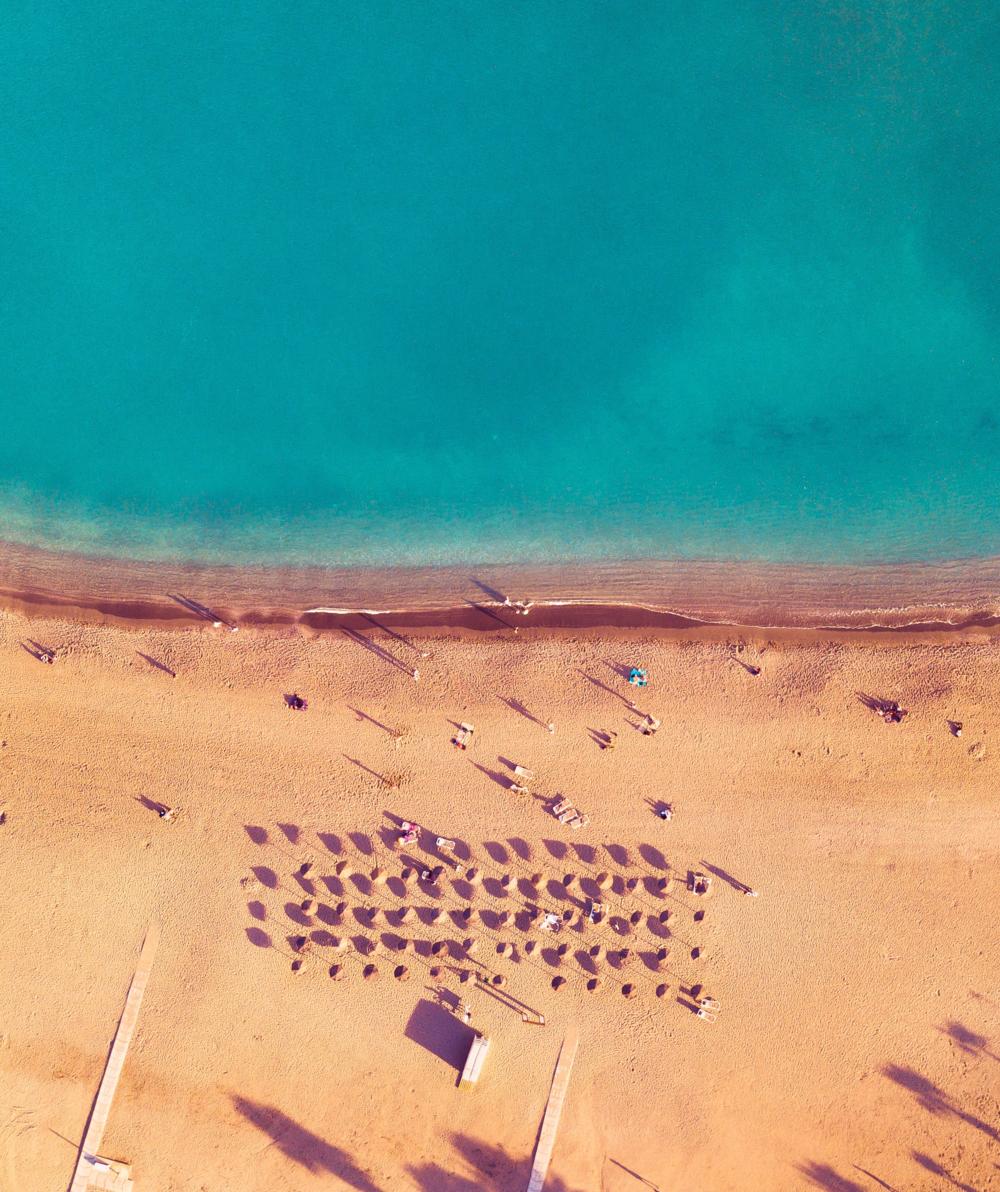 Vy över en av Málagas stränder, Playa de La Malagueta