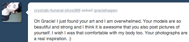 This was asked a while ago but I wanted to publicly state that this is why I take pictures. Messages like these.