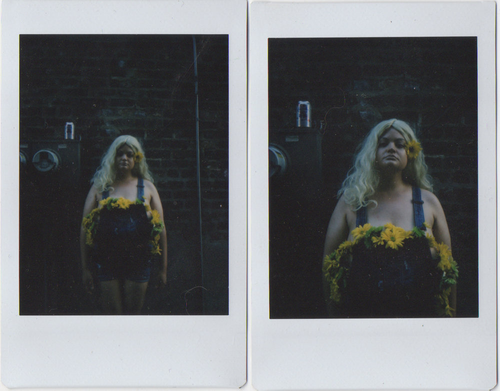 Blue Collar Flower - polaroid - gracie hagen 2018
