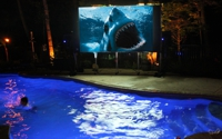 Pool Side Large Screen