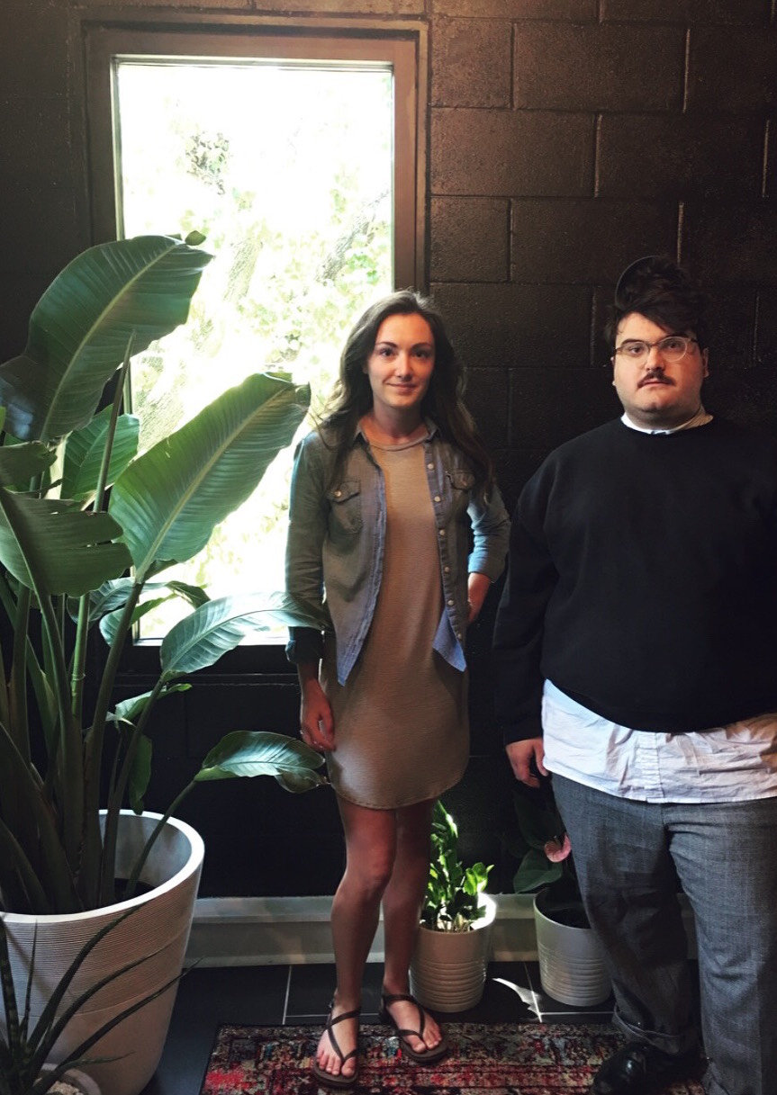 Summer 2018 interns Marcee Wardell and Jacob Stovall