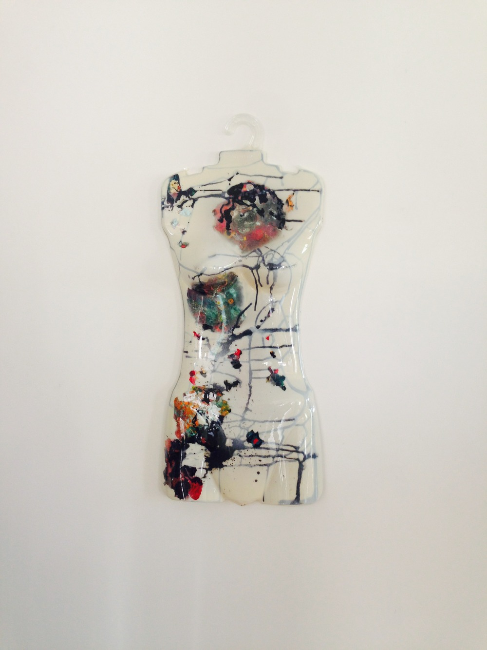 "Richard Gubernick ""Dolly"" (acrylic on found object)"