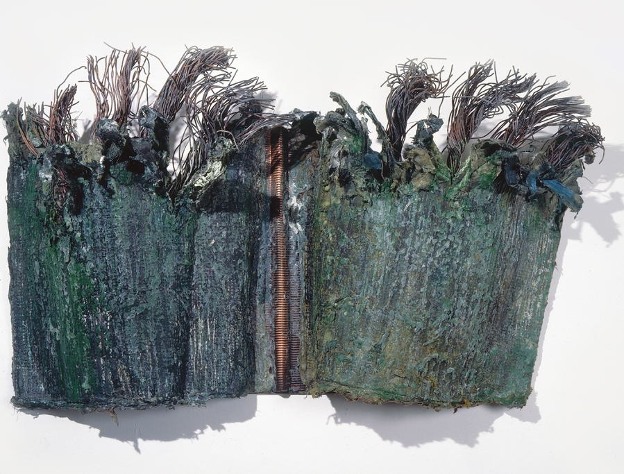 Me As Tree   60 x 40 x 5 inches. Paper, steel mesh, copper ribbing, copper cable.Private Collection/ Earle Greenberg, Palm Springs
