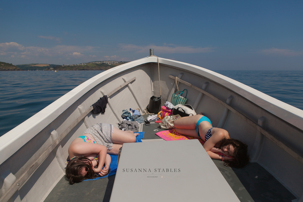 Sun, sea, swimming, the motion of the boat & fresh air proved an overwhelming combination on the way home as the girls fell asleep!