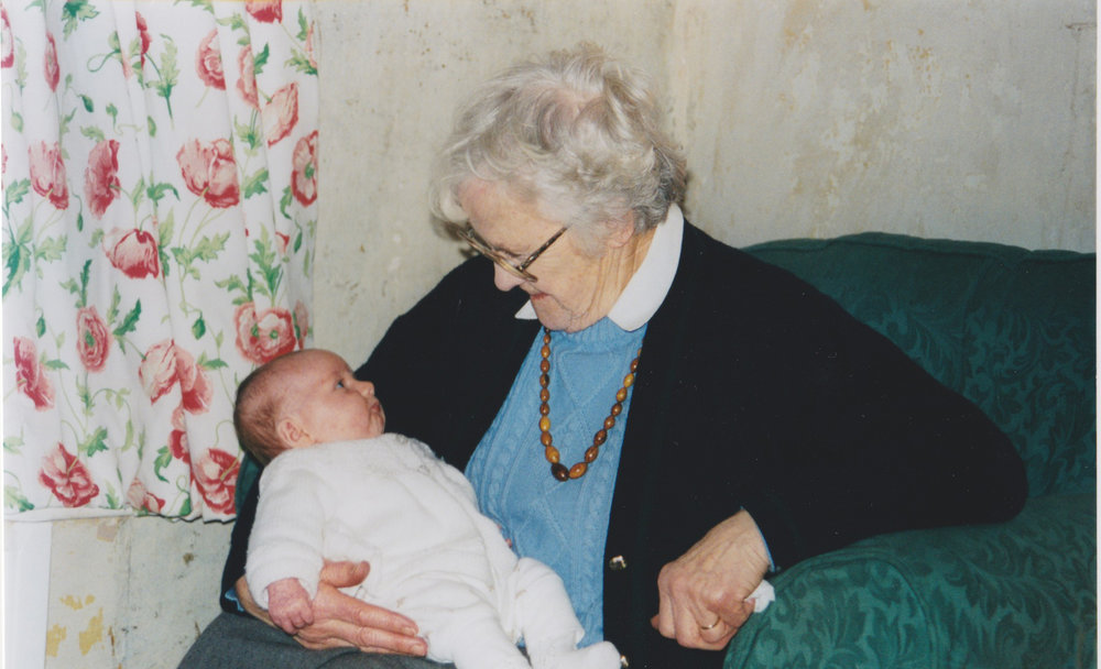 Meeting your Great Granny for the first time.