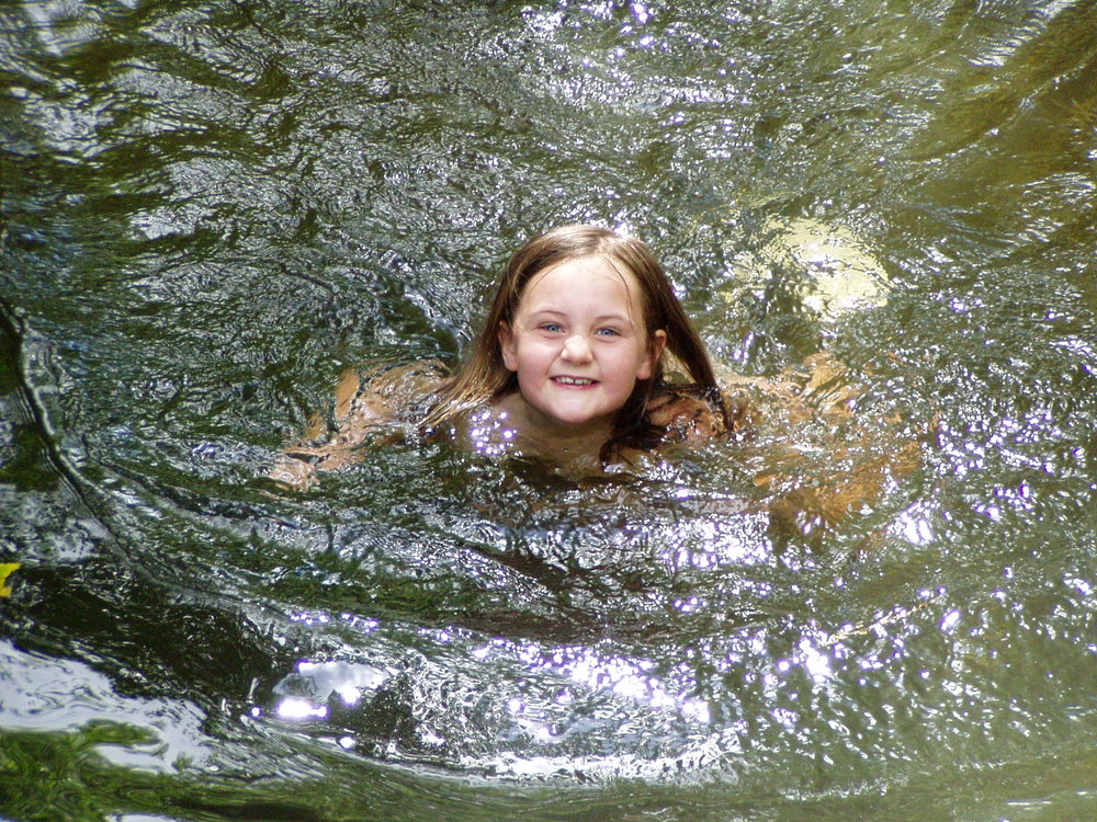 In the river at Cardinham Woods