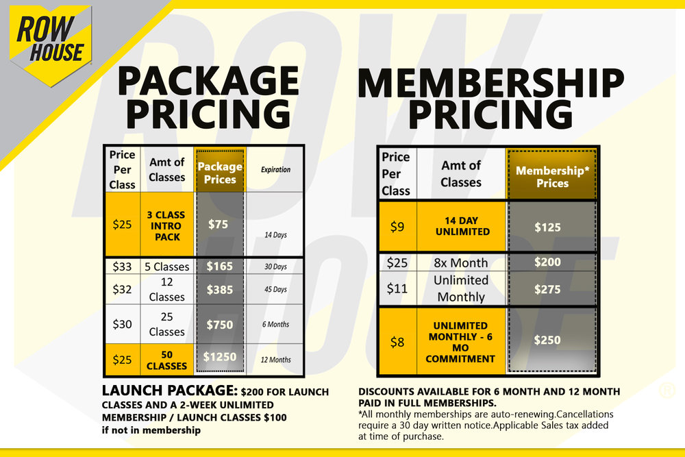pricing options are valid for use at all studios