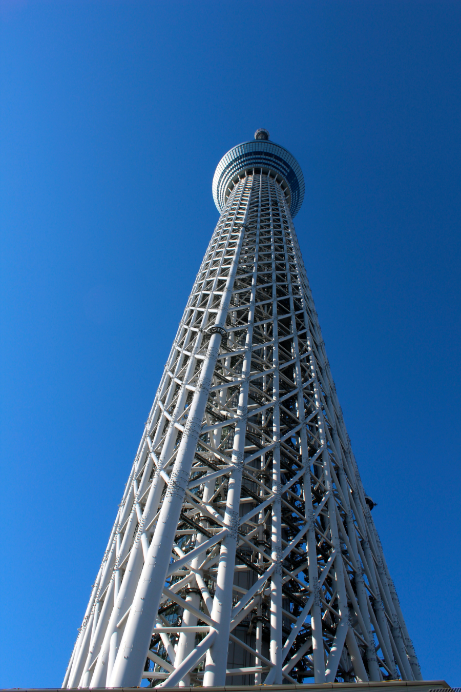 At 2,080 feet, the Tokyo Skytree is the tallest tower in the world. It is twice the size of the Eiffel Tower.