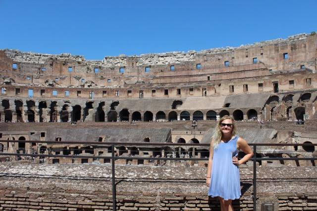 Inside the Colosseum on a 100 degree day (not pictured: all the sweat I was drenched in)