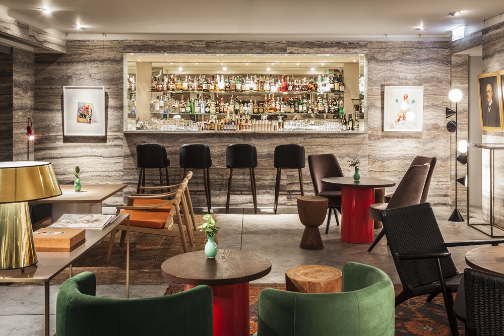 Comfy, chilled and oh so chic – the elegant upstairs lounge bar at Duddell's
