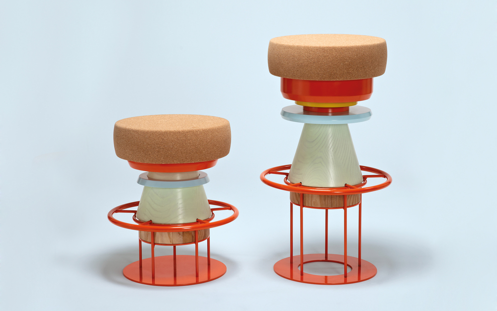 'Tembo' stools by Note Design Studio for La Chance, price on application   lachance.fr