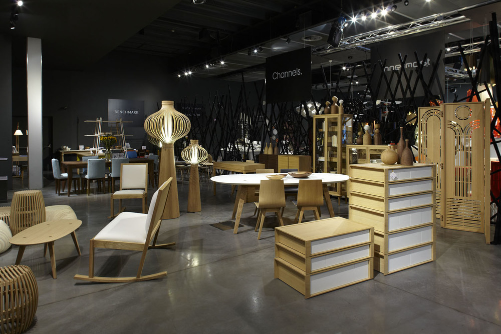 Designjunction's inaugural show in Milan 2011 featured British brands including Benchmark, Channels and Innermost