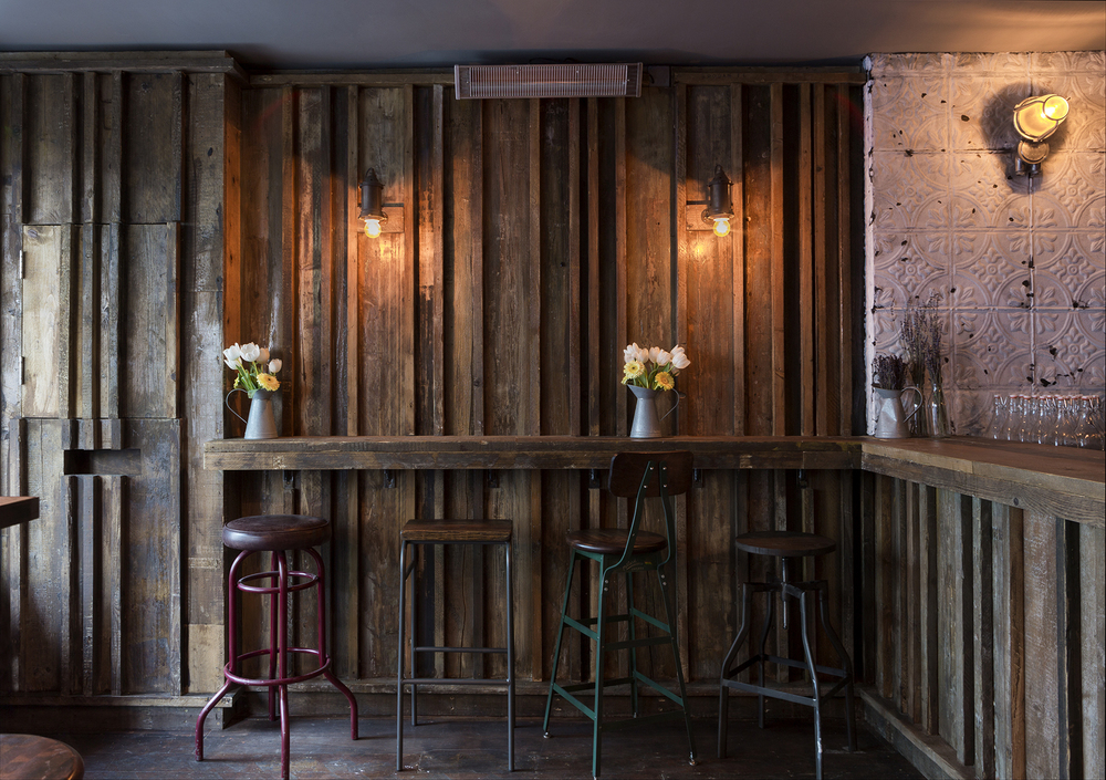 STOOL PIGEONS: A couple of Hedgerow Shandies wouldn't go amiss at the stripped back bar