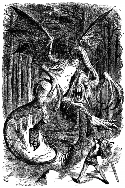 The 'Jabberwocky' by John Tenniel from ' Through the Looking Glass'