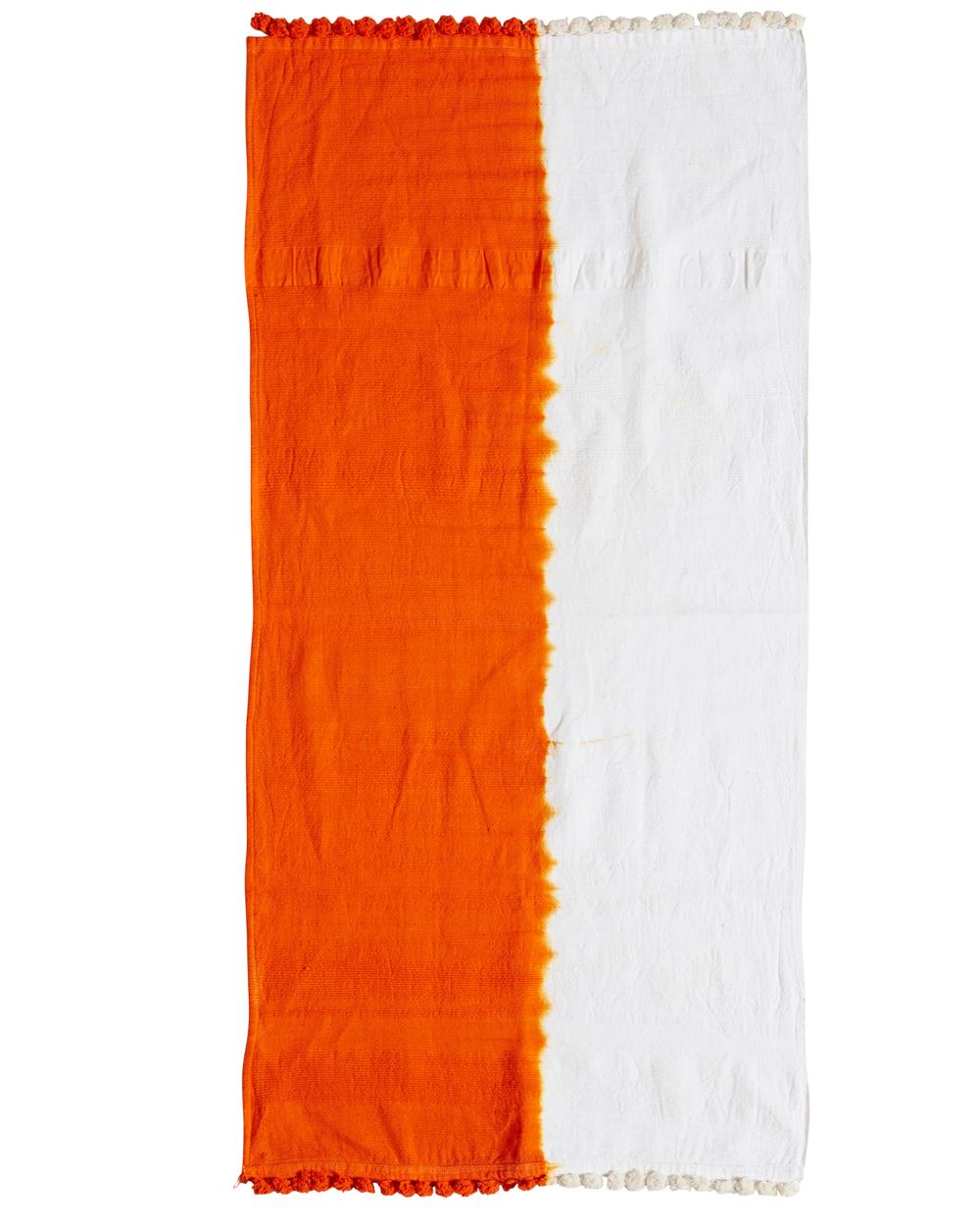 Jac+ Jack + Dinosaur Designs Half Dip Hand Towel in Orange Flat LR.jpg