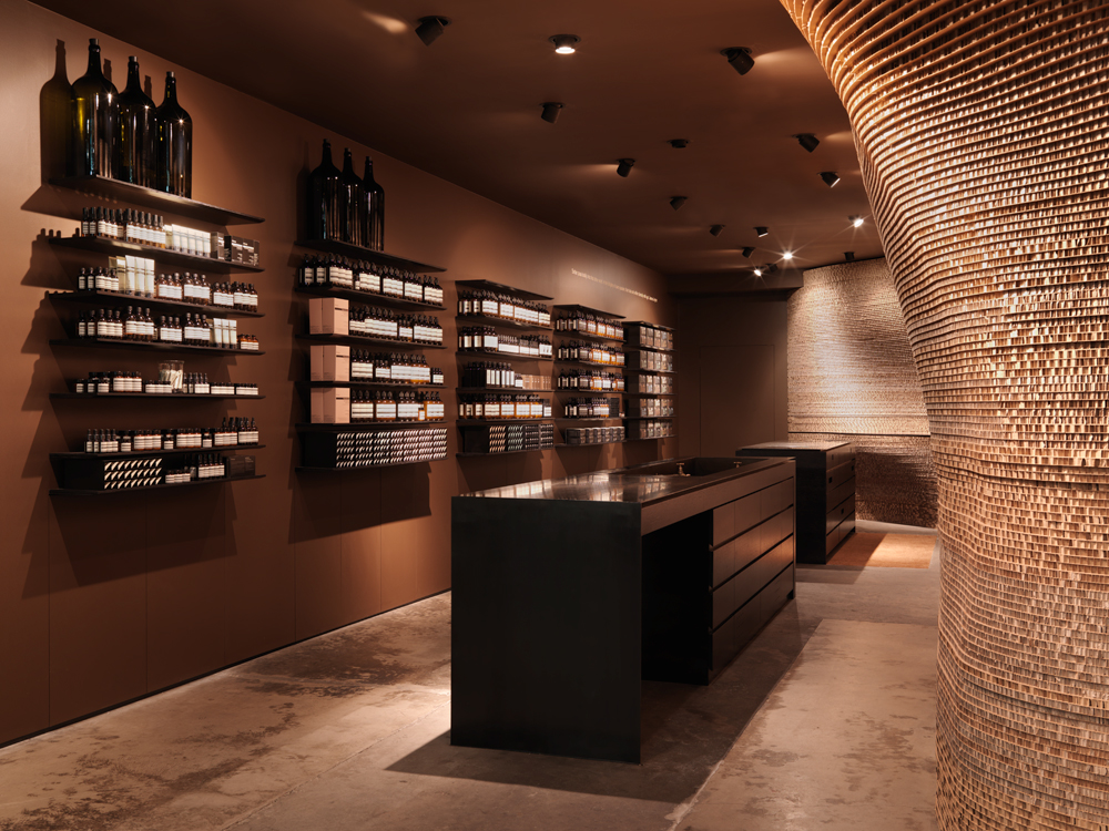 Aesop london and melbourne Interior design stores london