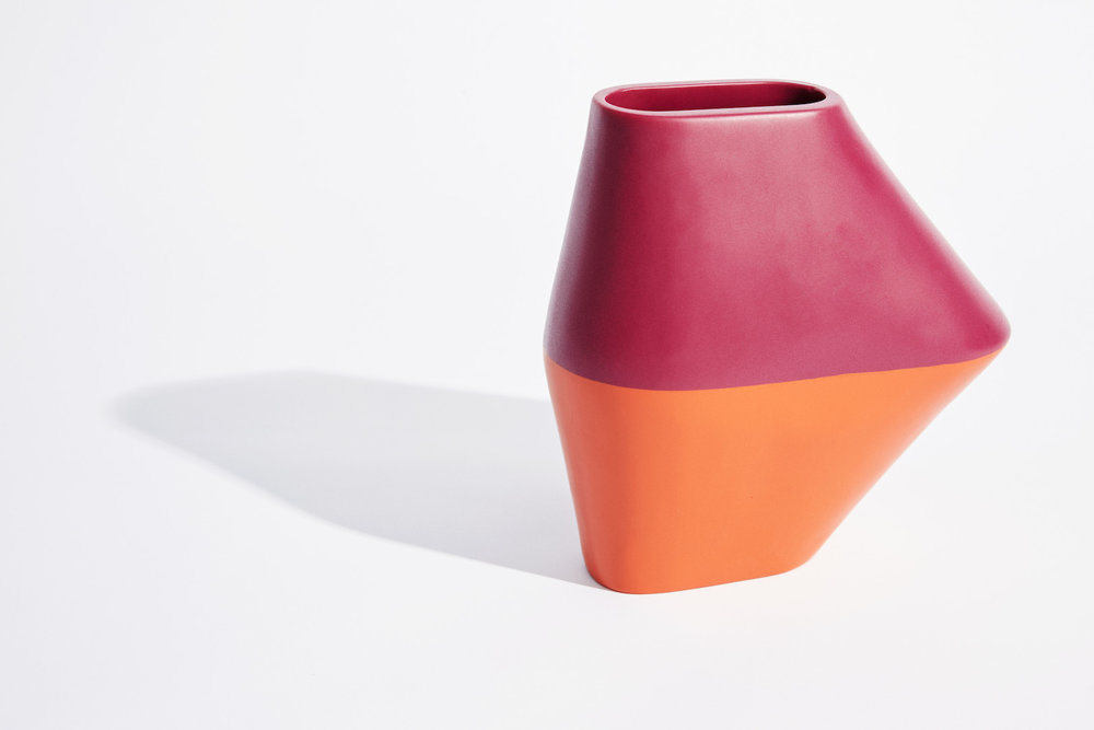Dinosaur Designs_Colour Block_Homewares_Single Red:Orange Vase.jpg