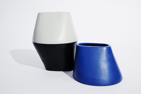 Dinosaur Designs_Colour Block_Homewares_Blue and Grey Vase. .jpg