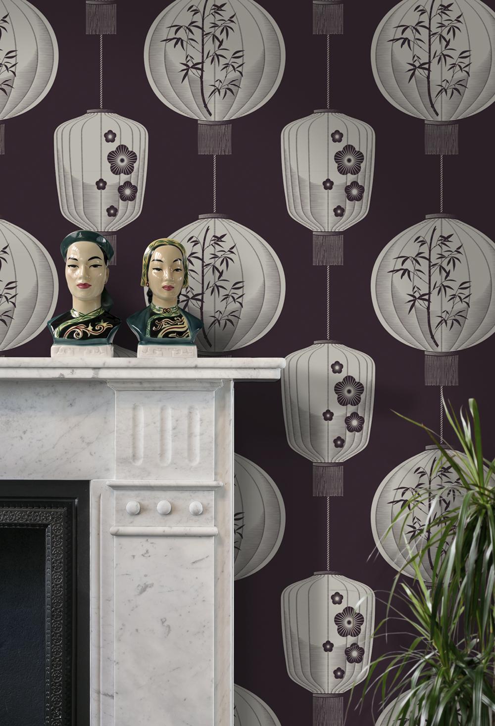 DF Lucky Lantern Wallpaper in Winter Plum from Mini Moderns  £60 per roll www.minimoderns.com.jpg
