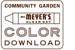 Download Garden Coloring Sheet