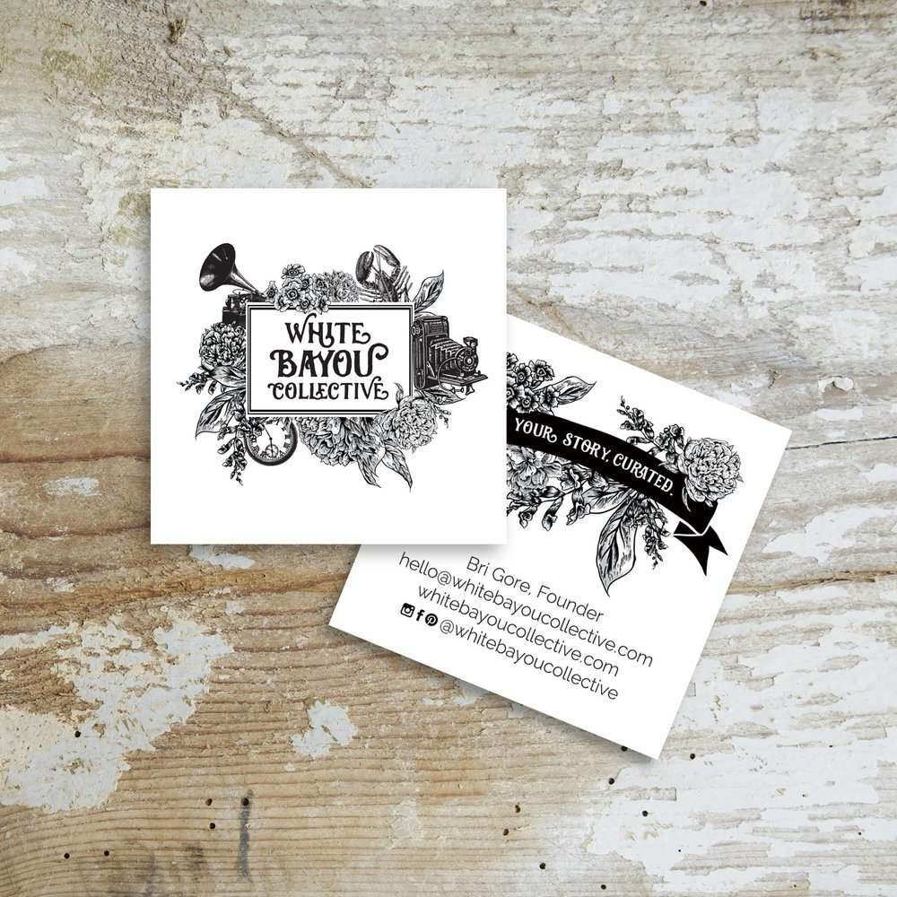 White Bayou Collective branding