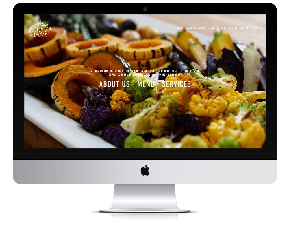 Jen Milton Catering website