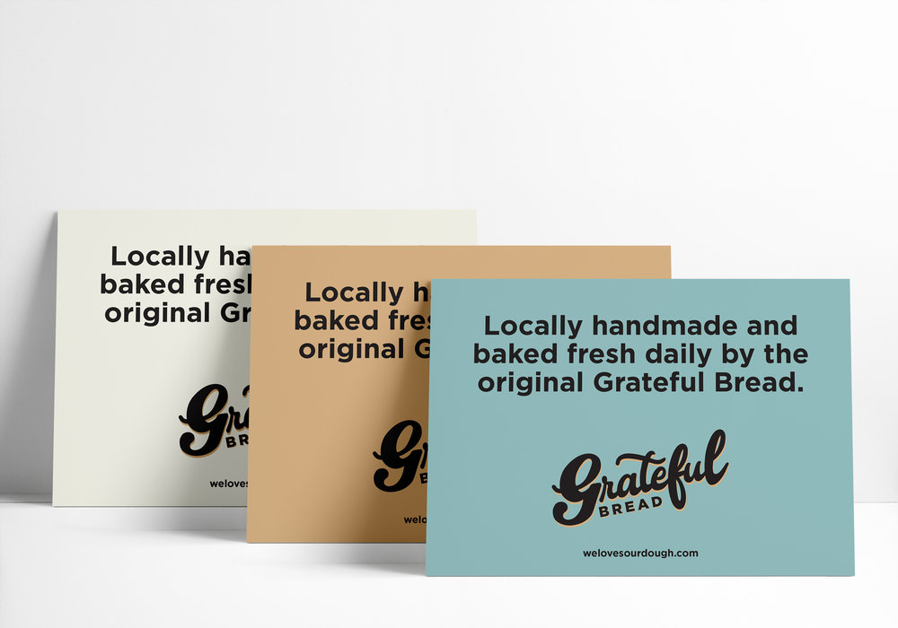 Grateful Bread Store Signs