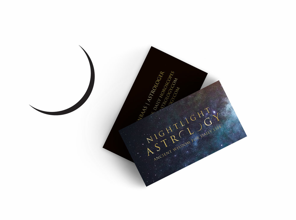 Nightlight Astrology business cards