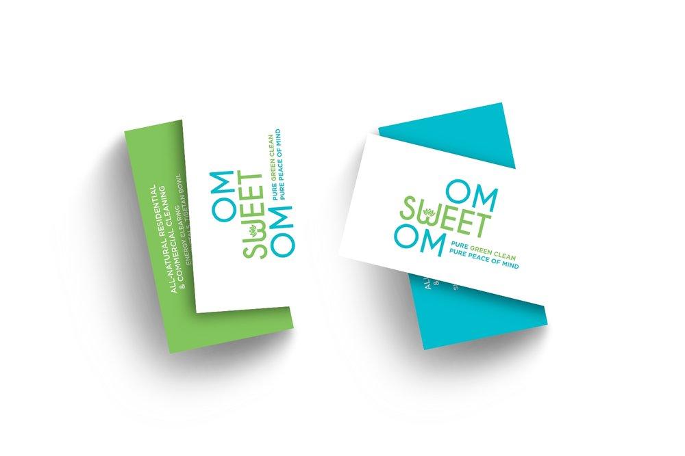 Om Sweet Om business card design