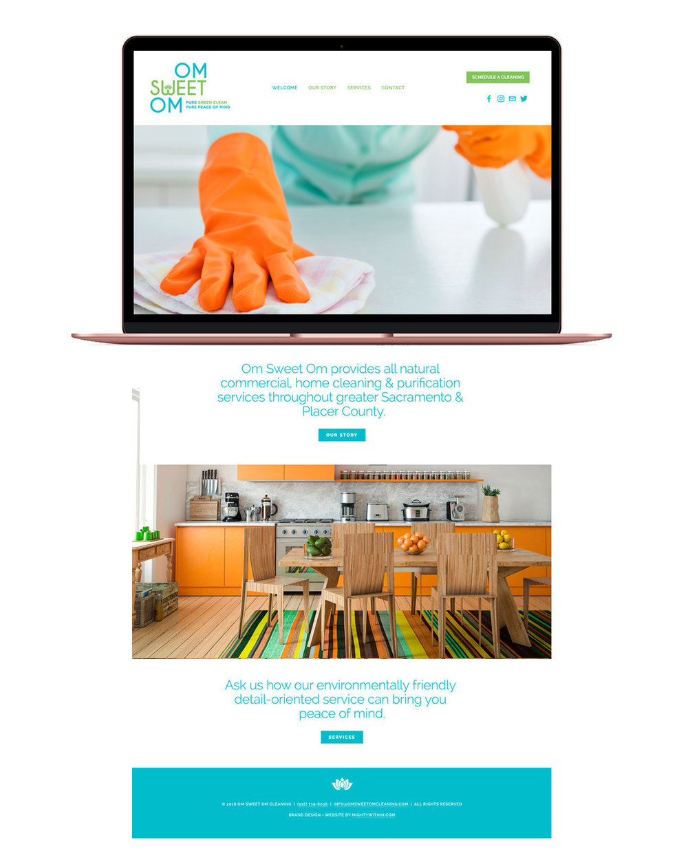Om Sweet Om Cleaning Squarespace Website Design