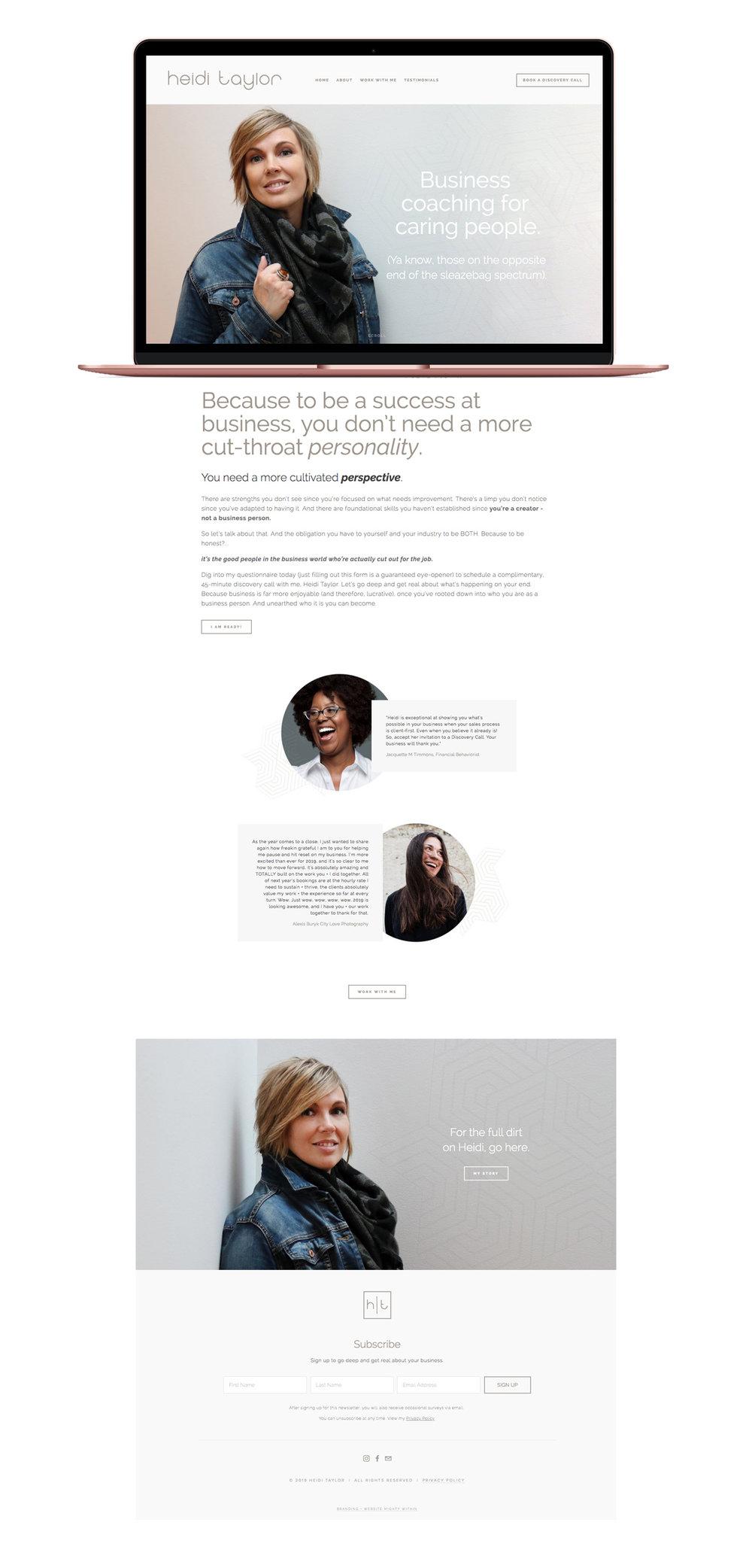 Heidi Taylor Squarespace Website Design