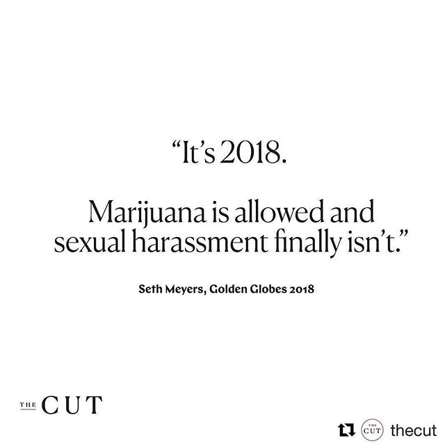 @sethmeyers #metoo-ing the shit out of the @goldenglobes 🙌  #Repost @thecut (@get_repost) ・・・ #goldenglobes2018