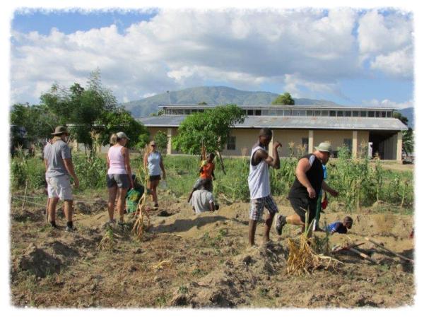 Cabaret Haiti Mission - Aquaponics Ground Breaking, Bercy, Haiti. (2013)
