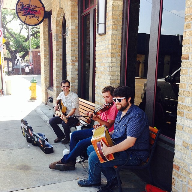 Got these boys playing some live music outside til 2! #fil2014