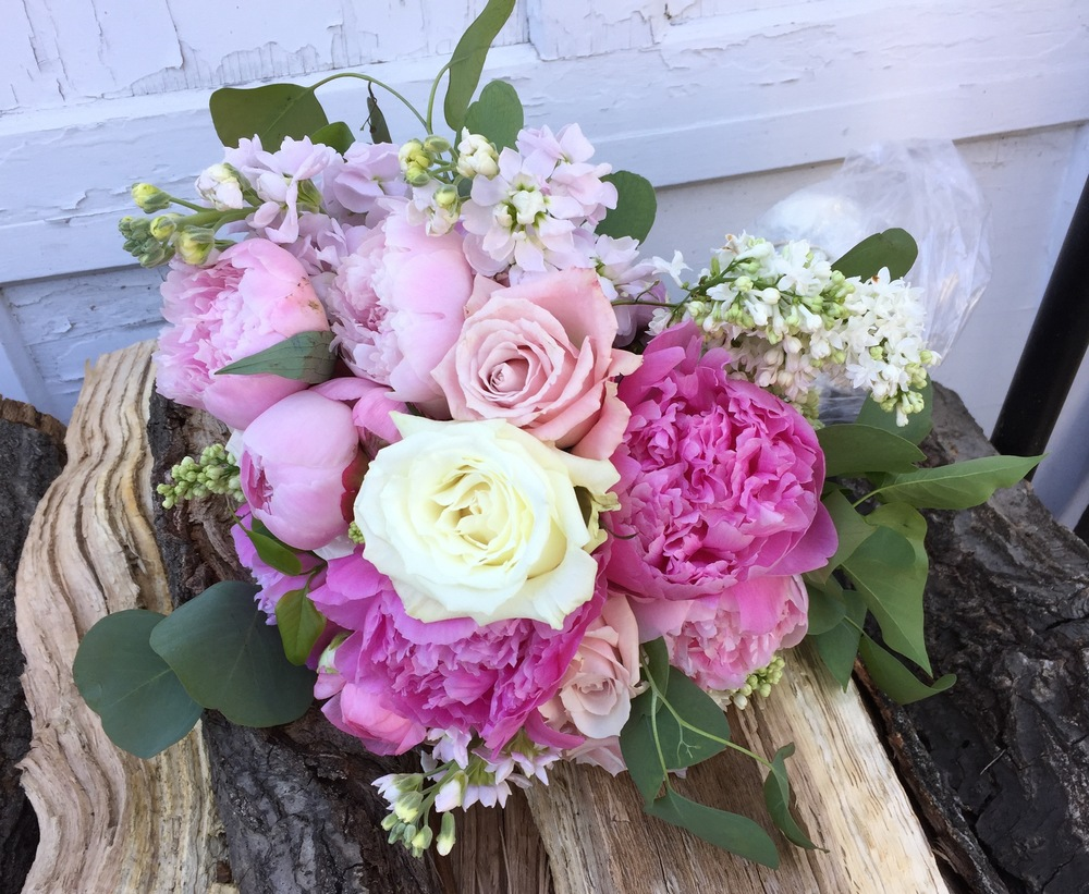 Roses, peonies, and lilac