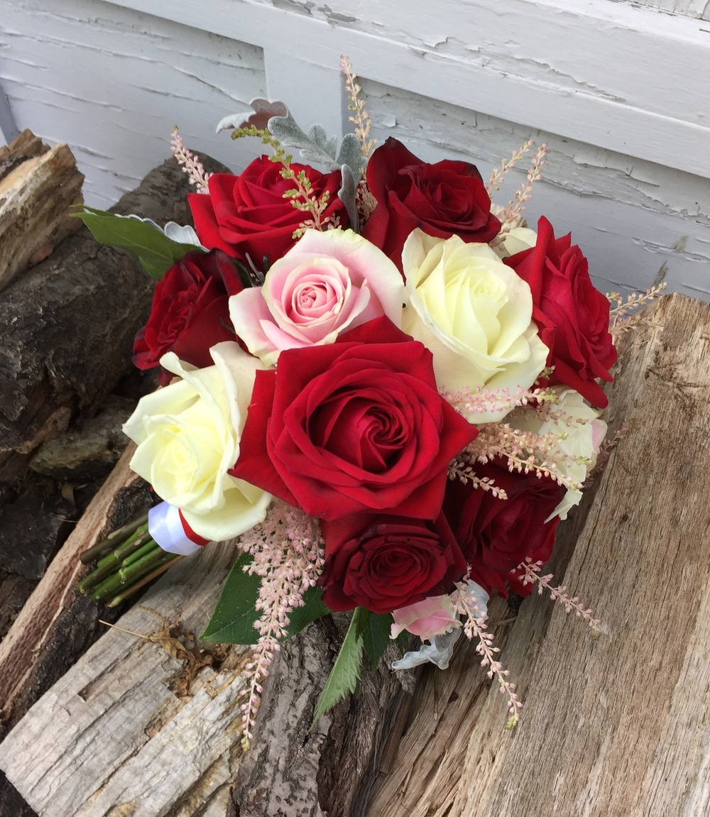 Roses and astilbe