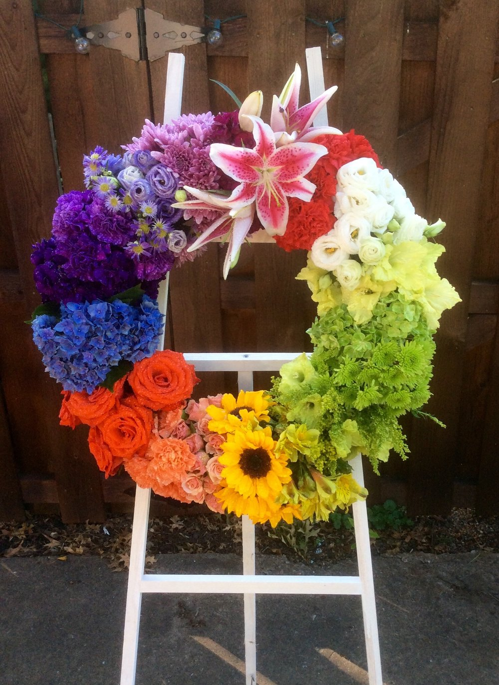 Rainbow Memorial Wreath
