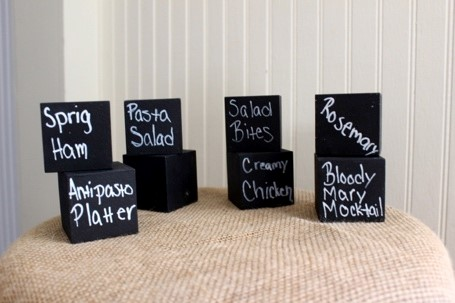 Black chalkboard cubes (1.5 in.) In Stock: 8 Price: $1.50 ea.