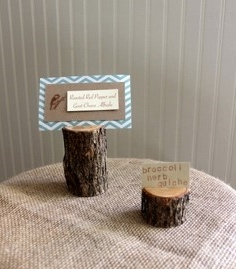 Wooden label holders (assorted sizes) In Stock: 10 Price: $1.50 ea.