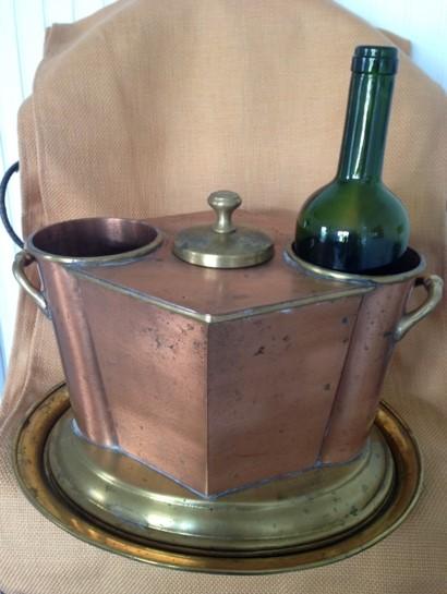Copper wine chiller (double) In Stock: 1 Price: $15.00 ea.