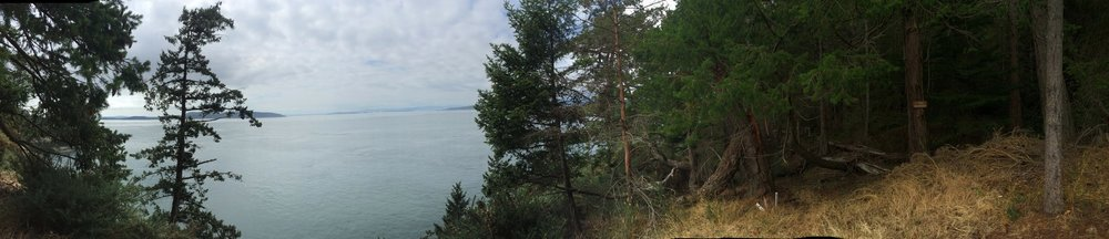 Full disclosure: I took this image at the destination point of my trail run while in British Columbia. Topography, climate, and vibe mirror Washington's coastal scene.