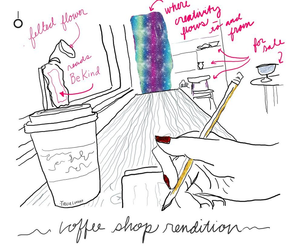 Another quick coffee shop perspective; ideas flow; housemade chai at this place.