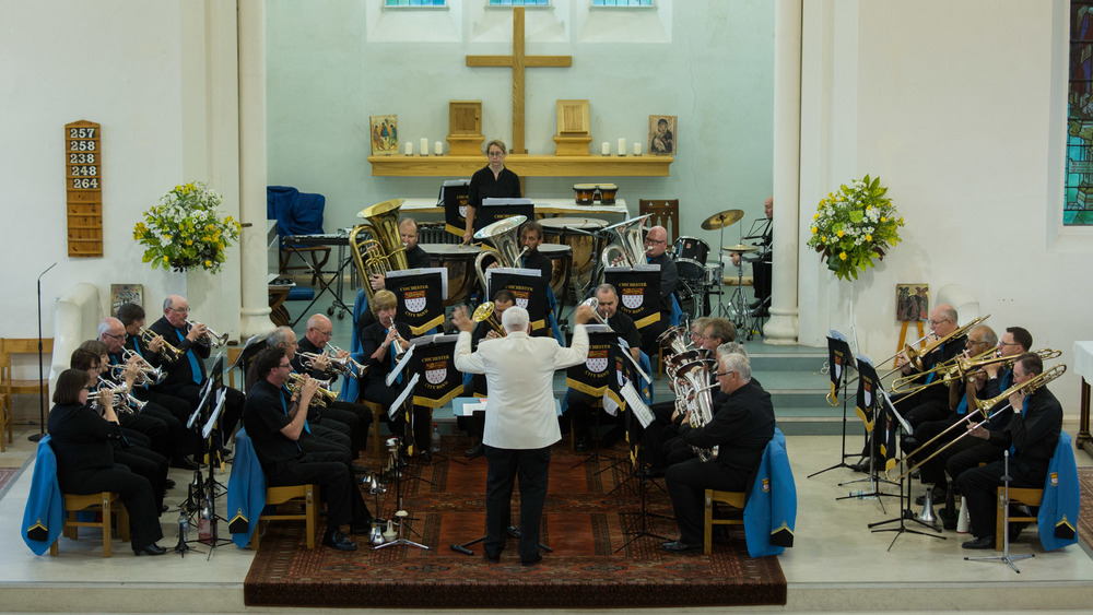 Ted Howard conducting Chichester City Band