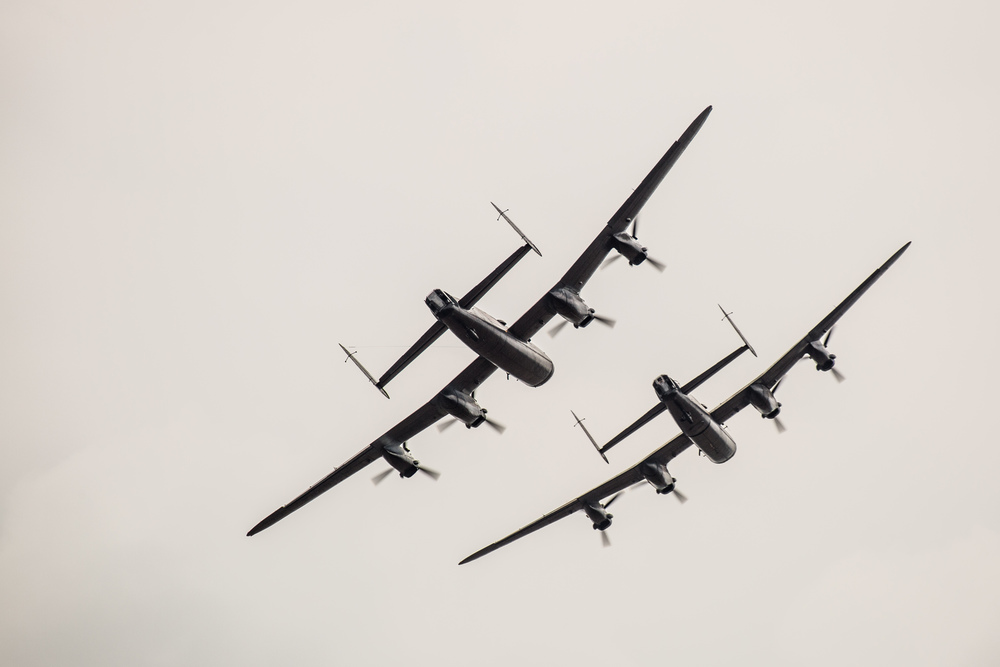 There may be no blue skies or sunshine but that little bit of light under the body of the two Lancasters makes such a difference, sculpting their shape and making them seem so much more three dimensional