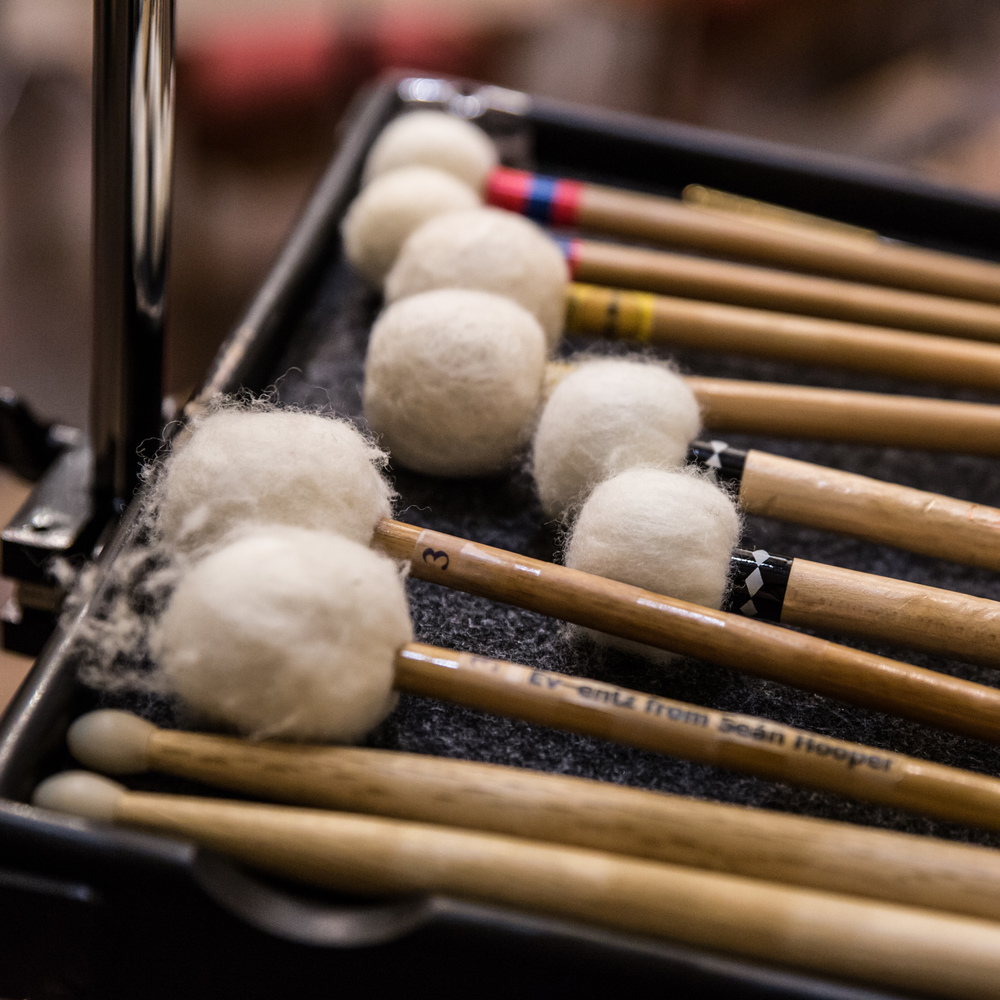 A percussionist can never have too many drumsticks!